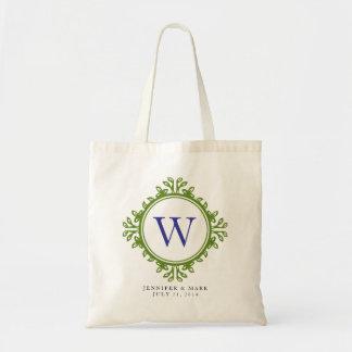 Personalisierte Tasche des belaubten Wreathgrün-Mo