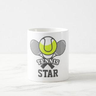 Personalisierte Tennis-Stern-Kaffee-Tasse Kaffeetasse