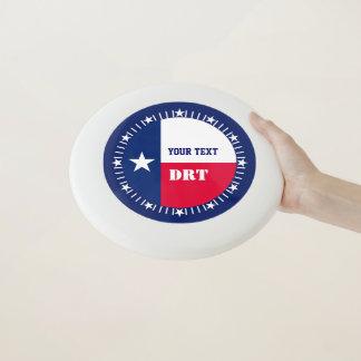 Personalisierte Texas-Staats-Flagge auf a Wham-O Frisbee