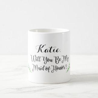 Personalisierte Trauzeugin-Tasse Kaffeetasse