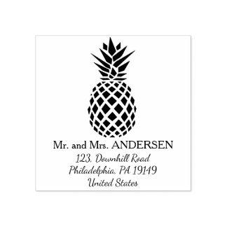 Personalisierte tropische Hochzeits-Briefmarke der Gummistempel