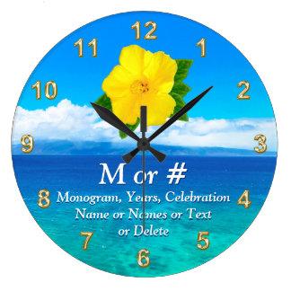 Personalisierte tropische Uhr für Ihre Feier