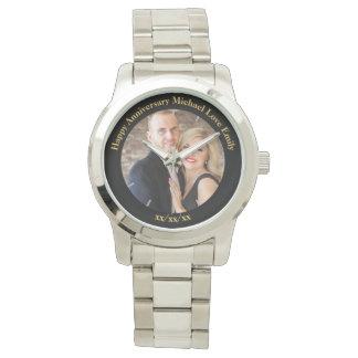 Personalisierte VERSPRECHEN Erneuerungs-Jahrestag Armbanduhr