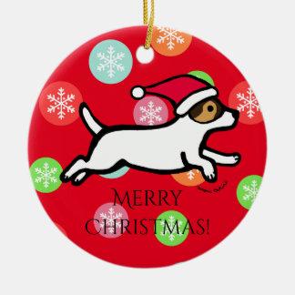 Personalisierte Verzierung Jack-Russell-Terrier-2 Keramik Ornament