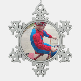 Personalisierte Verzierung Schneeflocken Zinn-Ornament
