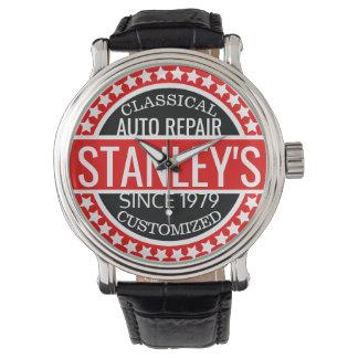 Personalisierte Vintage Garage Armbanduhr