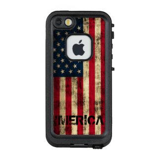 Personalisierte Vintage 'Merica Flagge LifeProof FRÄ' iPhone SE/5/5s Hülle