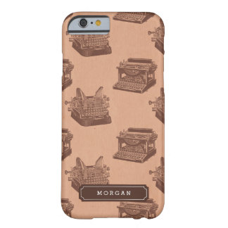 Personalisierte Vintage Schreibmaschine Barely There iPhone 6 Hülle