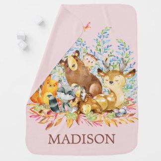 Personalisierte Waldmädchen, die Decke empfangen