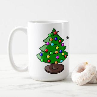 Personalisierte Weihnachtsbaum-Geschenk-Tasse Tasse