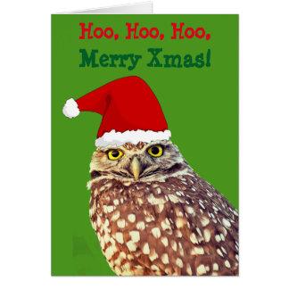 Personalisierte Weihnachtskarte Eulen-Sankt Karte