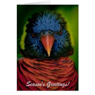 Personalisierte Weihnachtskarte - Lorikeet Karte