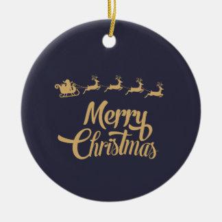 Personalisierte Weihnachtsverzierung Keramik Ornament