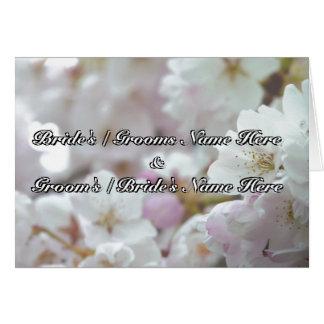 Personalisierte weiße Blüten-Karten-Hochzeits-Kart
