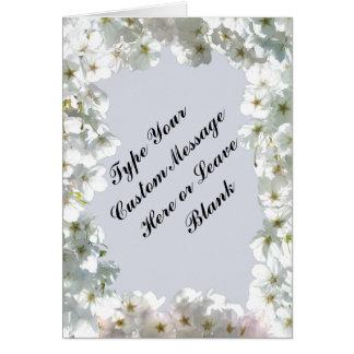Personalisierte weiße Blüten-Karten-Rosa-Blumen-Ka