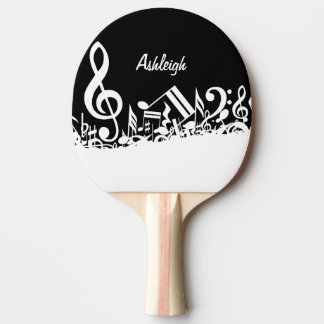 Personalisierte weiße durcheinandergebrachte tischtennis schläger