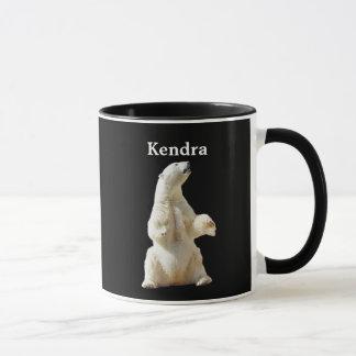 Personalisierte weiße polare betreffen Schwarzes Tasse