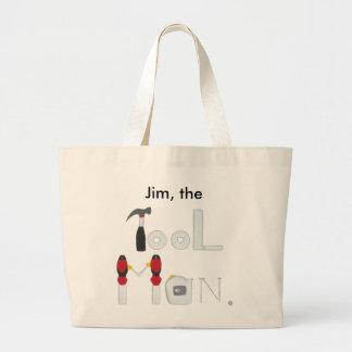 Personalisierte Werkzeug-Mann-Taschen-Taschen für Jumbo Stoffbeutel