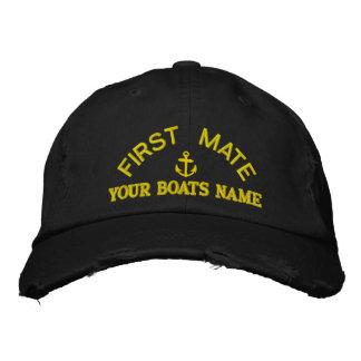 Personalisierte Yacht-Crew des ersten Kameraden Bestickte Baseballkappe