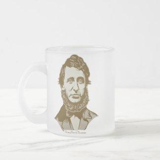 Personalisierte Zitat-Tasse Henry David Thoreau Matte Glastasse