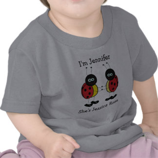 Personalisierte Zwillings-Marienkäfer-Freunde