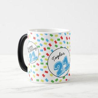Personalisierter 21. Geburtstags-magische Tasse