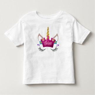 Personalisierter 3. Geburtstag gekröntes Kleinkind T-shirt
