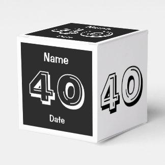 Personalisierter 40. Geburtstag Geschenkschachtel