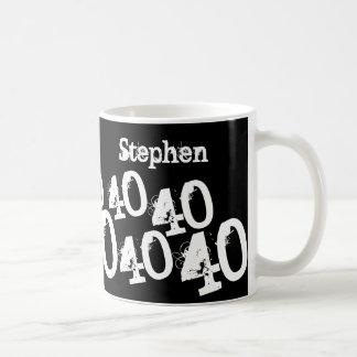 Personalisierter 40. Geburtstag Kaffeetasse