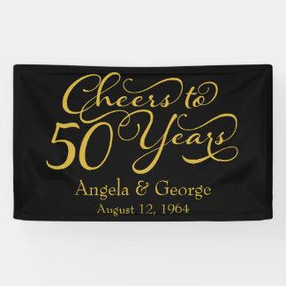 Personalisierter 50. goldene Hochzeits-Jahrestag Banner