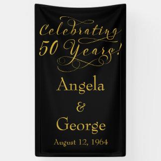 Personalisierter 50. Hochzeits-Jahrestag Banner