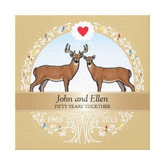 Personalisierter 50. Hochzeits-Jahrestag, Dollar Gespannte Galeriedrucke