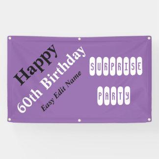 Personalisierter 60. Geburtstag Banner