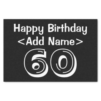 Personalisierter 60. Geburtstags-Themed Seidenpapier