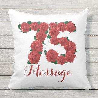 Personalisierter 75. Geburtstag Throw Kissen Im Kissen
