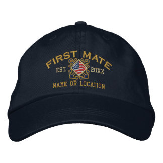 Personalisierter amerikanische Flaggen-erster Bestickte Kappe