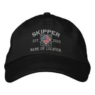 Personalisierter amerikanische Flaggen-Kapitän Bestickte Mützen