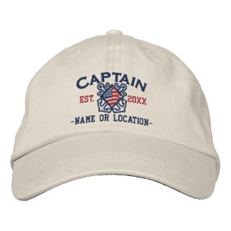 Personalisierter amerikanischer Kapitän Nautical Besticktes Cap