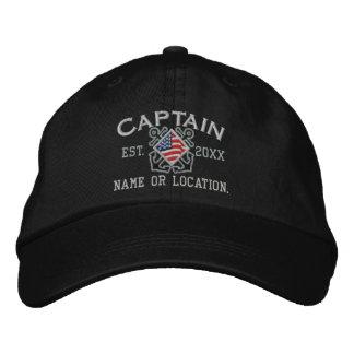 Personalisierter amerikanischer Kapitän Nautical Bestickte Baseballkappen