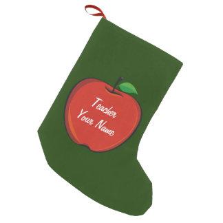 Personalisierter Apple-Lehrer-WeihnachtsStrumpf Kleiner Weihnachtsstrumpf