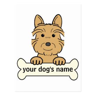 Personalisierter australischer Terrier Postkarte