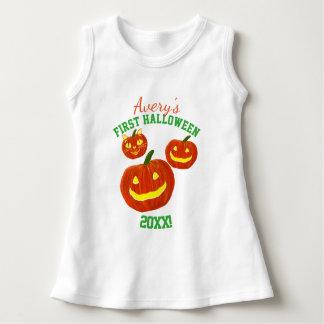 Personalisierter Baby-Name erstes Halloween Kleid