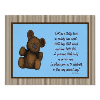Personalisierter Babyduschen-Einladungen Teddy-Bär 10,8 X 14 Cm Einladungskarte
