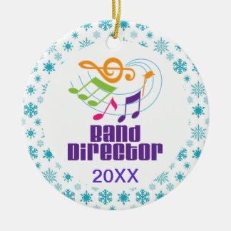 Personalisierter Band-Direktor Christmas Gift Keramik Ornament