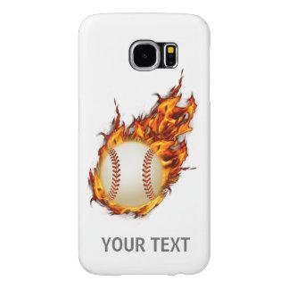 Personalisierter Baseball-Ball auf Feuer