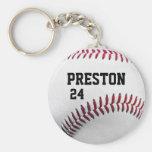Personalisierter Baseball Keychain Schlüsselband