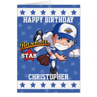Personalisierter Baseball-Krug mit Stern-Streifen Karte