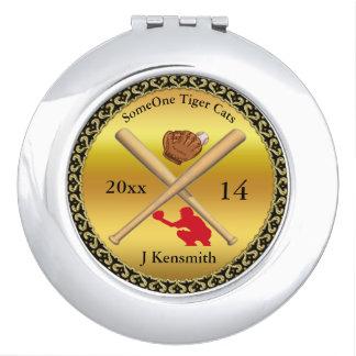 Personalisierter Baseball-Meister-Ligaentwurf rd Taschenspiegel