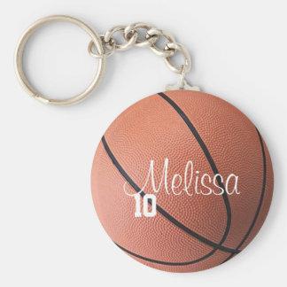 Personalisierter Basketball Keychain Standard Runder Schlüsselanhänger