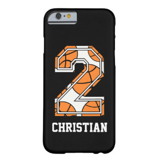 Personalisierter Basketball Nr. 2 Barely There iPhone 6 Hülle